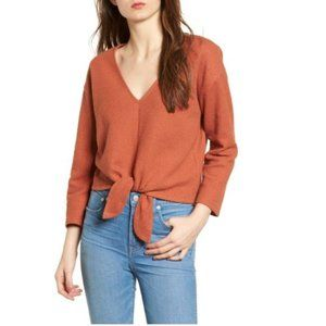 MADEWELL Textured Tie Front Top L